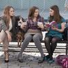 Jemima Kirke, Lena Dunham, and Zosia Mamet in Girls