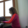Joanne Pearce Martin starts each day at the piano.