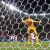 Silvestre Varela of Portugal scores his team's second goal on a header past Tim Howard of U.S.A. during the 2014 FIFA World Cup Group G match at Arena Amazonia on June 22, 2014 in Manaus, Brazil.