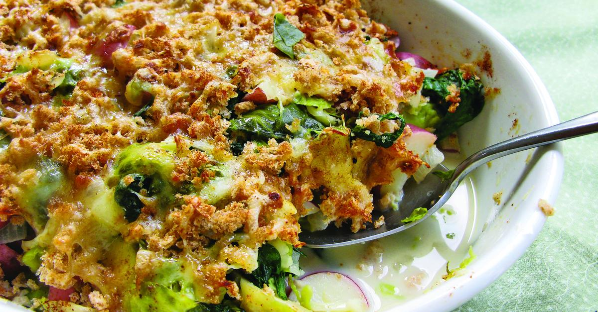 Smoky Brussels Sprout Gratin Recipe — Dishmaps