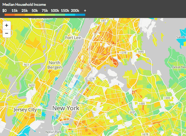 Tracing Income Disparities Across The US The Takeaway WNYC - Median income map us