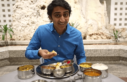 One indian man eats and tells micropolis wnyc for Cuisine you eat with your hands