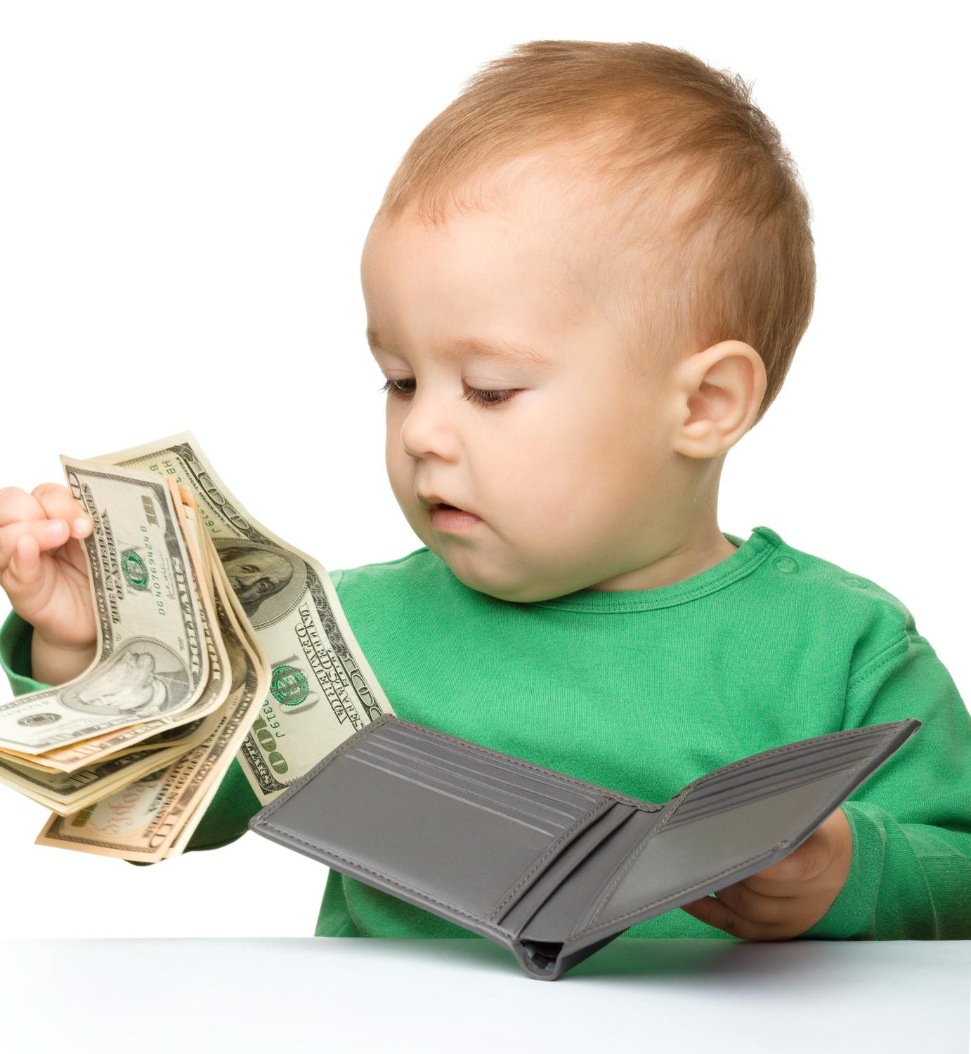 Image result for baby with money
