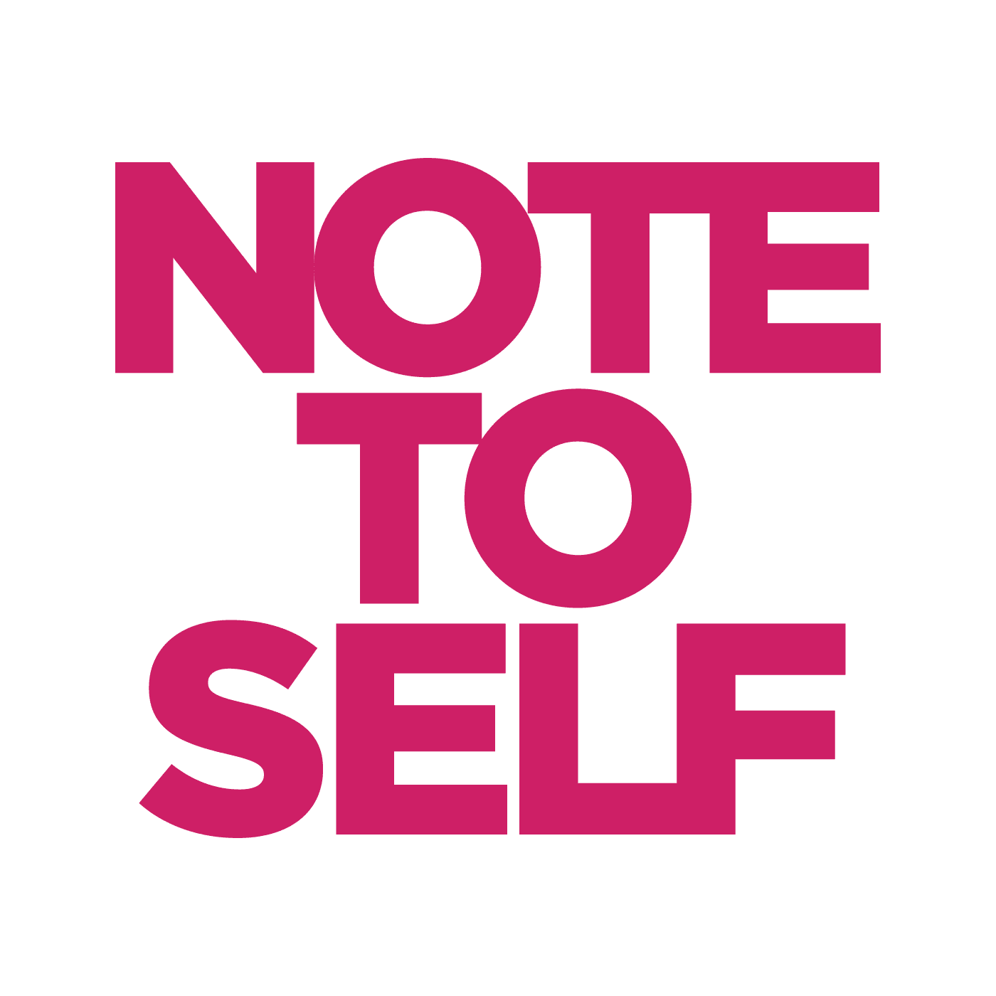 note to self blog wnyc