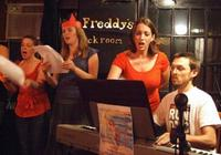 Members of Opera on Tap perform at Freddy's Backroom in Brooklyn