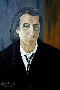 Portrait of Alfred Schnittke by Reginald Gray. Russian Academy of Music, London, U.K.