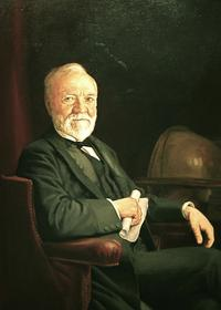 Andrew Carnegie as he appears in the National Portrait Gallery in Washington, D.C.