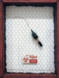 Lethal Weapons: Molotov Cocktail, 1994. Mixed-media assemblage with artist's HIV-infected blood