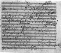 Part of a sketch by Beethoven for his Symphony No. 6, 'Pastoral.'