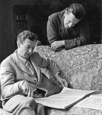 Composer Benjamin Britten and tenor Peter Pears