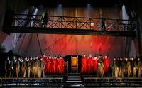 A scene from 'The Two Foscari' at LA Opera