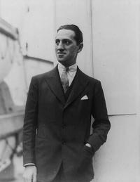 George Gershwin in his youth on a ship's deck