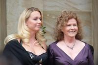 Katharina and Eva Wagner, great granddaughters of Richard Wagner, at the premiere of the Bayreuth Festival 2009.