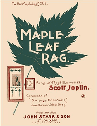 First edition cover of Scott Joplin's 'Maple Leaf Rag.'