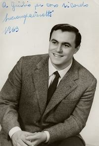 A publicity photo of Luciano Pavarotti in 1963