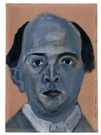'Blue Self Portrait' by Arnold Schoenberg