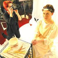 Hairdresser Janet Stephens photographs hair model Jackie Rose
