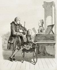 Mozart as a child prodigy