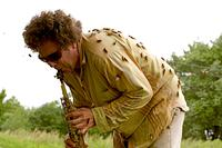 David Rothenberg making music with cicadas