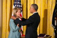 President Obama gives Renée Fleming a 2012 National Medal of Arts