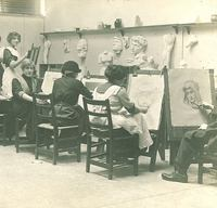 Art students drawing, The University of Iowa, 1910s