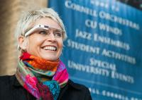 Conductor Cynthia Johnston Turner wears her Google Glass