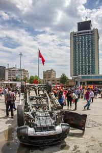 The aftermath of protests in Istanbul's Taksim Square