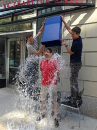 WQXR host Jeff Spurgeon takes the ice bucket challenge