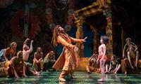 André De Shields as King Louie and Akash Chopra as Mowgli in the new musical adaption of 'The Jungle Book' at Chicago's Goodman Theatre.