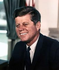 John F. Kennedy, photographed in the Oval Office