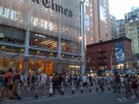 Demonstrators head north toward Times Square during a rally protesting the George Zimmerman 'not guilty' verdict in the death of Trayvon Martin