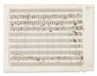 Two pages from Mozart's Serenade in D Major are up for auction
