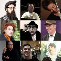 From top left, clockwise: Sam Hillmer, Dan Deacon, Claire Chase, Steve Reich, Owen Pallett, Nico Muhly, Steven Schick and Zoe Keating