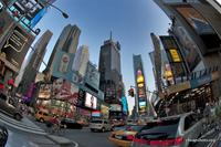 times square fisheye photo