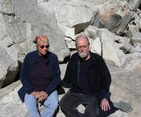 Annie Proulx and Charles Wuorinen in Wyoming in 2012