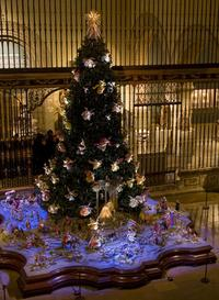 The Christmas tree at the Metropolitan Museum of Art