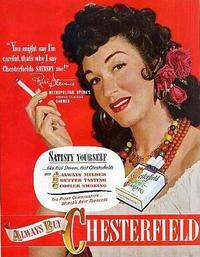 Rise Stevens in a cigarette commercial