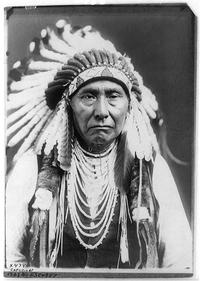 Joseph–Nez Perce, commonly known as Chief Joseph, photographed by Edward Curtis in 1903.
