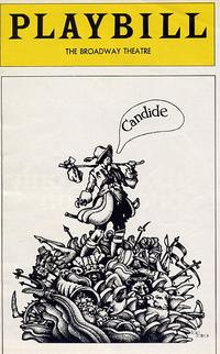 August 1975 Playbill from the Broadway Theatre production of 'Candide.'