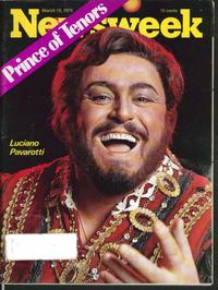 Luciano Pavarotti in Newsweek