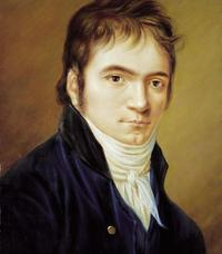 Portrait of Ludwig van Beethoven painted in 1803 by Christian Hornemann.