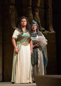 Liudmyla Monastyrska as the title character and Olga Borodina as Amneris in Verdi's 'Aida'
