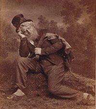 Actor Henrik Klausen as Peer in the premiere production of Henrik Ibsen's 'Peer Gynt' in 1876.