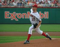 Pitcher Stephen Strasburg in his Major League debut, June 8, 2010