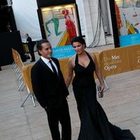 Anna Netrebko and Erwin Schrott arrive at the Met on opening night