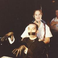 Lisa Bielawa on the set of <em>Einstein on the Beach</em> with dancer Michele Pogliani (1992)