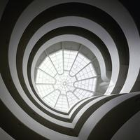 view from inside the Guggenheim Museum