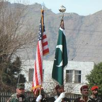 American and Pakistani flags
