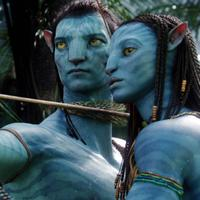 A Scene from James Cameron's Avatar  (Sam Worthington, left, Zoë Saldana, right)