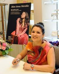 Anna Netrebko signs her new CD at the Metropolitan Opera Shop on October 12, 2011